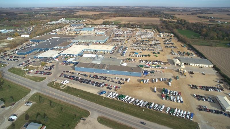 an aerial view of the McNeilus Truck complex